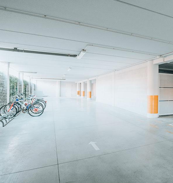 Parcheggio-Garage-Attrezzato-Rastrelliera-Posto-Bici-Le-Dune-Silvi-Marina